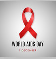 1st december world aids day aids awareness symbol vector image vector image