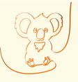 3d line art koala animal