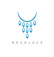 abstract icon design template of necklace vector image vector image