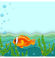 An orange fish under the sea vector image vector image