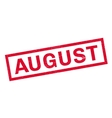 August rubber stamp vector image