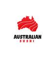 australian sushi logo design inspiration vector image