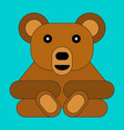 bear in cartoon flat style vector image