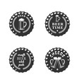 beer emblem set vector image vector image