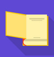 beginning of book icon flat style vector image vector image