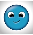 blue emoticon happy design vector image