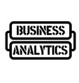 business analytics stamp vector image