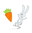 cartoon bunny with carrot vector image vector image