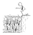 cartoon of businessman ready to jump in shallow vector image vector image