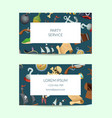 cartoon sea pirates business card template vector image vector image