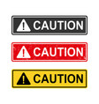 caution sign set vector image vector image