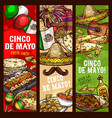 cinco de mayo fiesta mexican holiday celebration vector image vector image