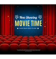 cinema movie time background card vector image vector image