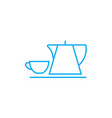 coffee break linear icon concept coffee break vector image vector image