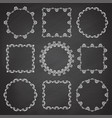 collection of ornamental frames hand drawn circle vector image