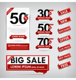 Collection of red and white web tag banner vector image vector image