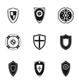 Combat shield icons set simple style vector image vector image
