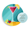 Cosmopolitan cocktail drink recipe for party vector image