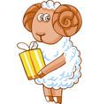 cute cartoon sheep character vector image vector image