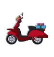 delivering motorcycle business transport service vector image