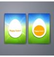 Easter Eggs Templates flyer brochure vector image vector image