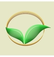 Ecology organic icon vector image