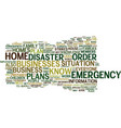 emergency plans are important for your home and vector image vector image