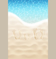 family footprints on sand vector image vector image