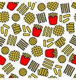 fries icons seamless pattern vector image vector image