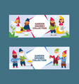 garden gnome beard dwarf characters cadrs and vector image vector image