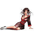 Geisha sitting vector image