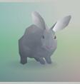 geometric gray rabbit or bunny concept