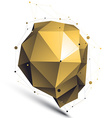 Gold 3D abstract design object polygonal vector image vector image