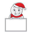 grinning with board snowman character cartoon vector image vector image