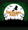 halloween party background green vector image vector image