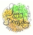 Happy Birthday Typography Design Letering card vector image