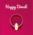 happy diwali celebration vector image vector image