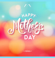 happy mothers day with little decorations vector image vector image
