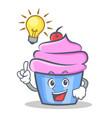 Have an idea cupcake character cartoon style