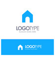 home instagram interface blue solid logo with vector image vector image