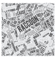 How To Get Rid Of Raccoons text background vector image vector image