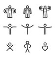human outline icons set collection icons for vector image