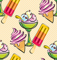 ice cream seamless vector image vector image