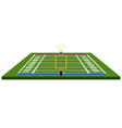 isolated front view of a football field vector image