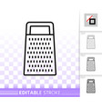 kitchen grater simple black line icon vector image vector image