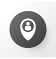 location icon symbol premium quality isolated vector image vector image
