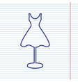 mannequin with dress sign navy line icon vector image vector image
