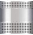 Metallic perforated chromium steel sheet 10eps vector image vector image