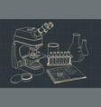microscope and laboratory equipment vector image