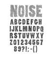 nervous and noisy handwritten font vector image vector image